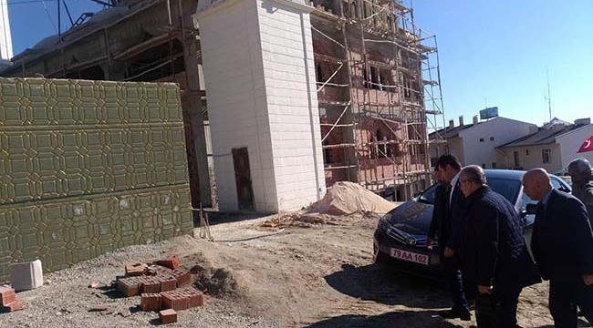 Kilis Musabeyli'de Cami İnşaatı Sürüyor
