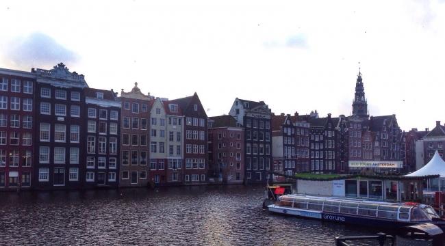 Kanallar şehri Amsterdam