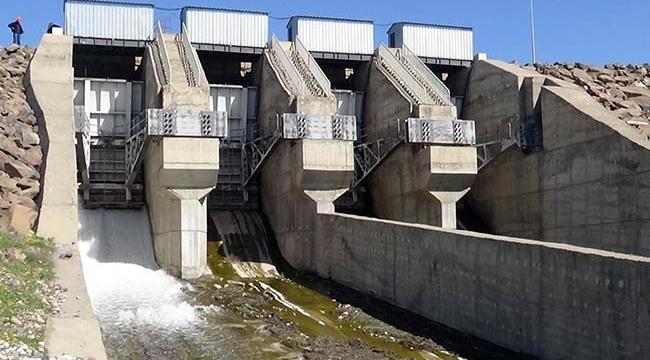 Kilis'te Seve Barajından Su Tahliye Edildi