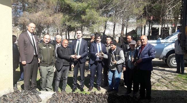 Kilis'te Çiftçilere 2 Bin Adet Sumak Fidanı Dağıtıldı