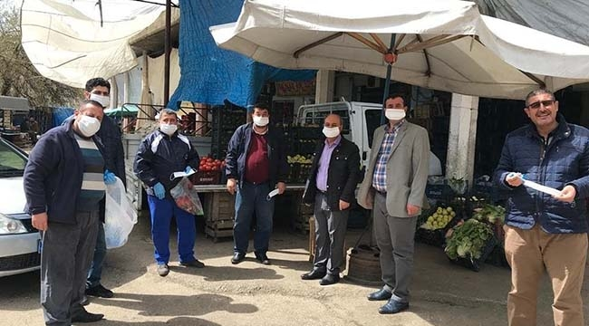 Kilis'te Esnaf Maskeleniyor