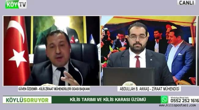 Kilis Tarımı Köy Tv'de Masaya Yatırıldı