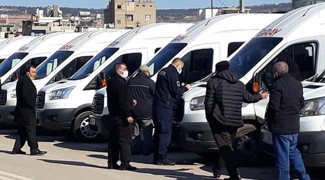 Kilis'te Servis Araçları Denetimden Geçirildi