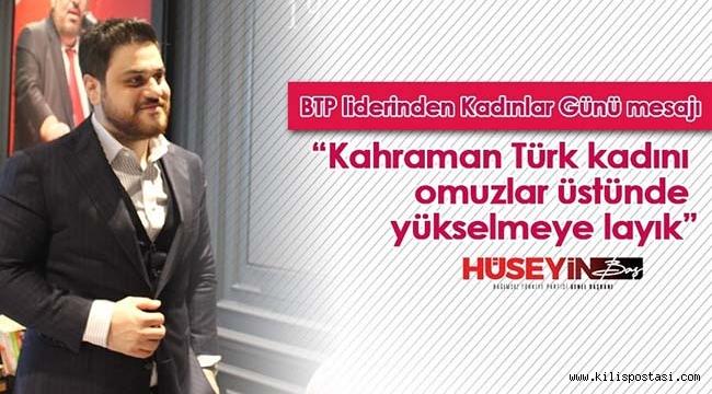 Kahraman Türk Kadını omuzlar üstünde yükselmeye layık