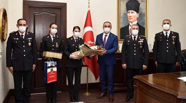 Jandarmadan Vali Soytürk'e Ziyaret