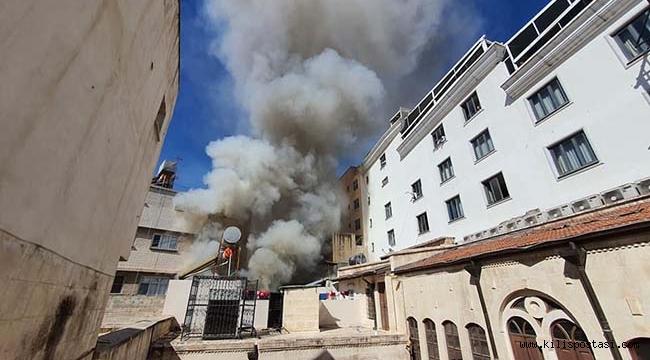 Kilis'te Korkutan Yangın