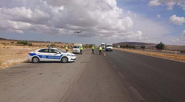 Kilis'te Trafik Denetiminde Drone Dönemi